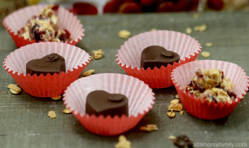 Chocolate Covered Cranberry Hearts