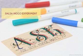 Writing On Balsa Wood With The Cricut Explore Air {Experiment}