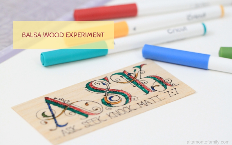 Writing On Balsa Wood With The Cricut Explore Air