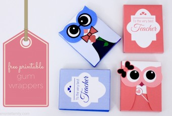 2 Free Printable Valentine's Day Owl Gum Wrappers {Teacher Appreciation}