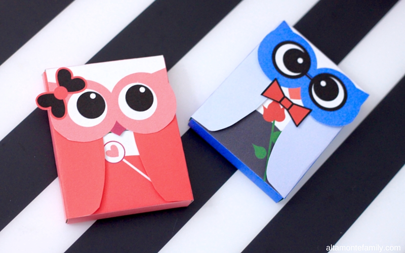 Free Printable Owl Gum Wrappers - Valentines
