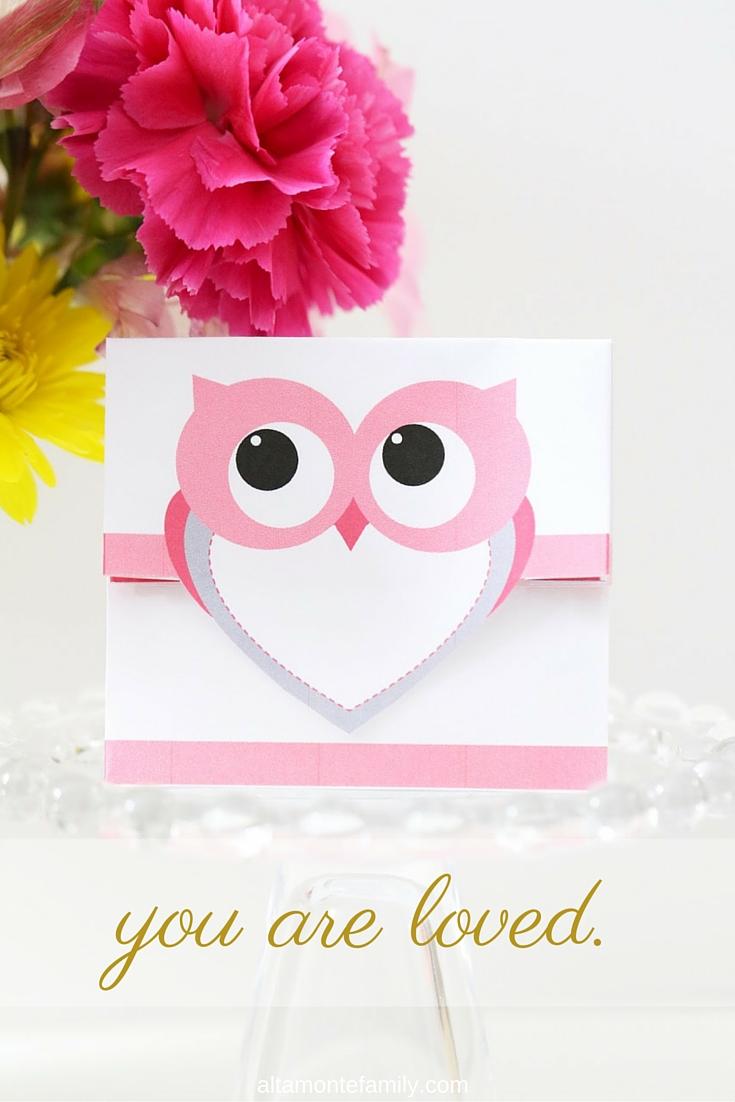 Free Printable Treat Bag {Valentines Day Owl}