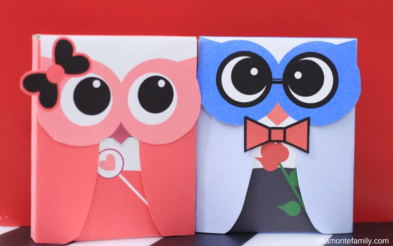 Free Printable Gum Wrappers - Valentines Owls