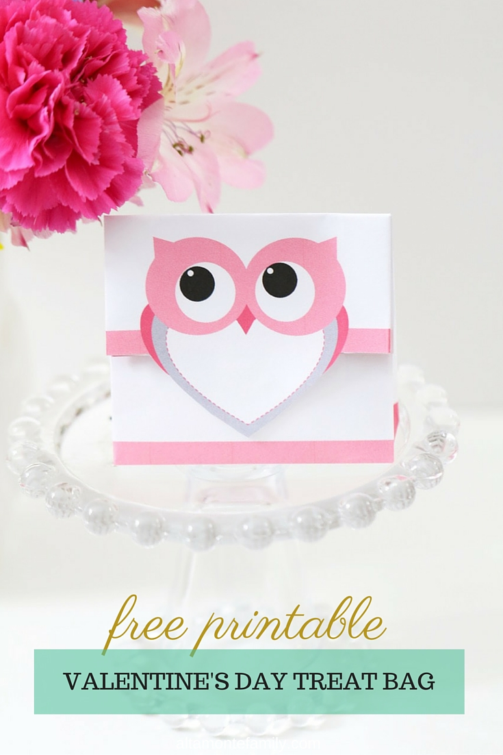 Free Valentines Day Owl Treat Bag