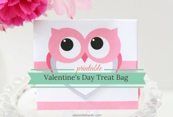 Free Printable Treat Bag for Valentine's Day