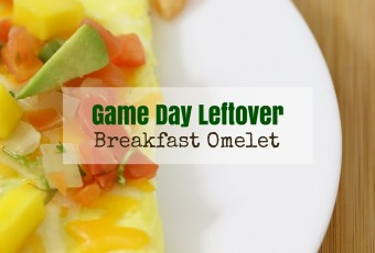Game Day Leftover Breakfast Omelet {Low Carb}