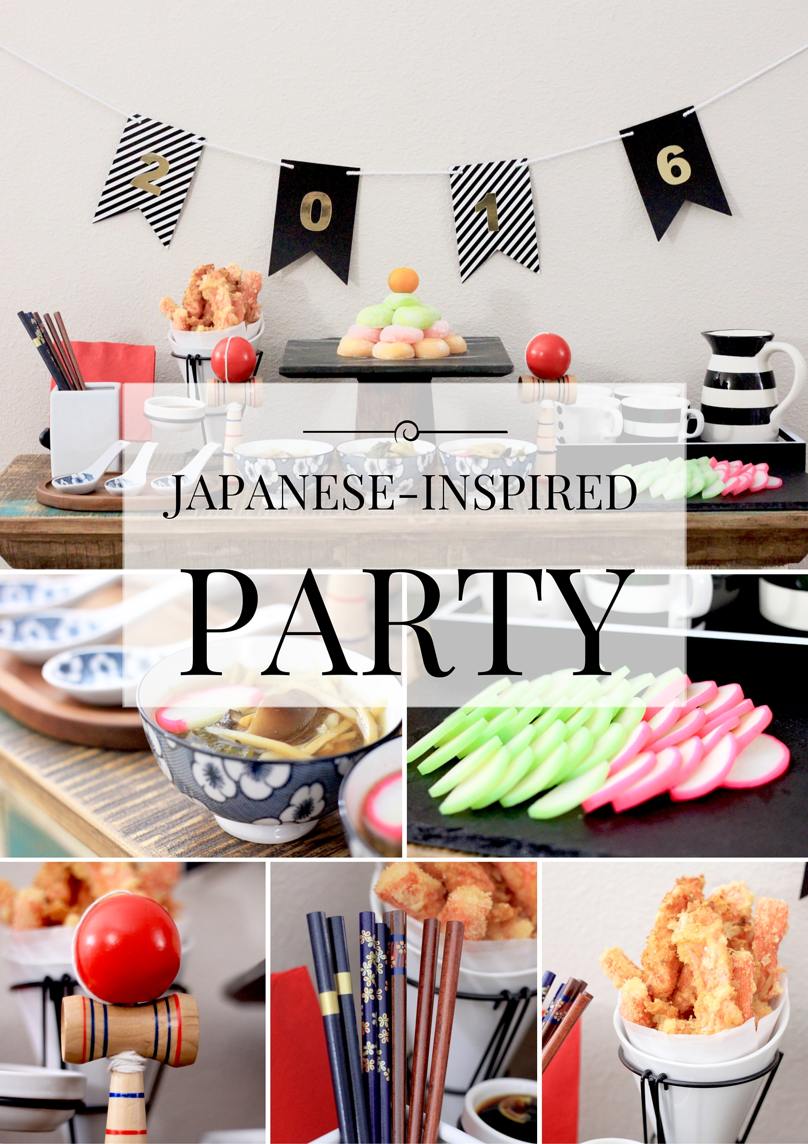 Japanese-Inspired New Year Party