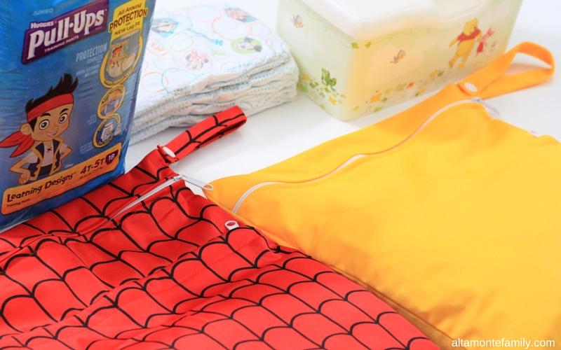 Pack 2 Small Bags in 1 Bigger Diaper Bag
