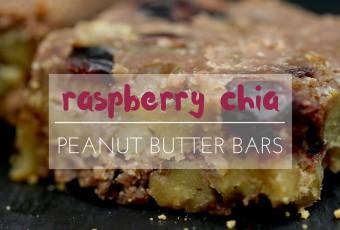 Raspberry Chia Peanut Butter Bars