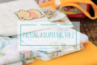 Packing One Travel Diaper Bag For Two Small Kids + Free Printable Checklist