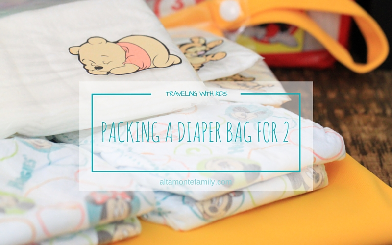Packing One Travel Diaper Bag For Two Small Children