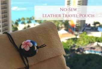 DIY No-Sew Leather Travel Pouch
