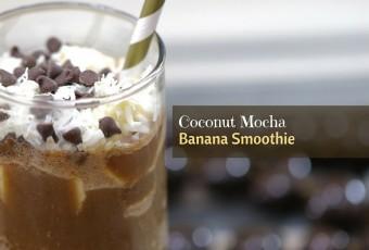 Coconut Mocha Banana Smoothie