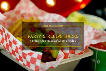 Game Day Party Hacks + Sloppy Joe Meatloaf Sliders Recipe