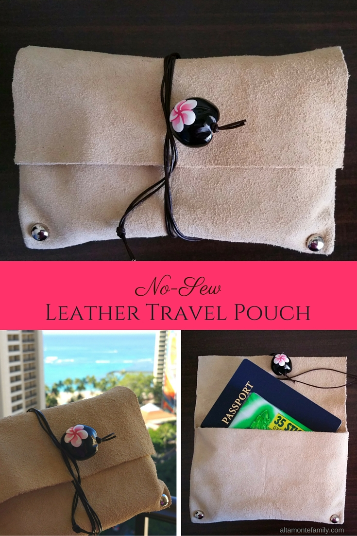 No Sew Leather Travel Pouch