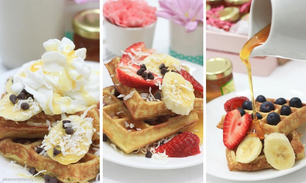 Coconut Flour Waffles - Caramel - Hazelnut - Vanilla