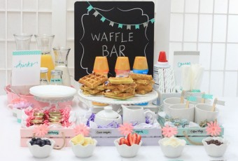 Waffle Bar Spring Party + Coconut Flour Waffles (3 Flavors)