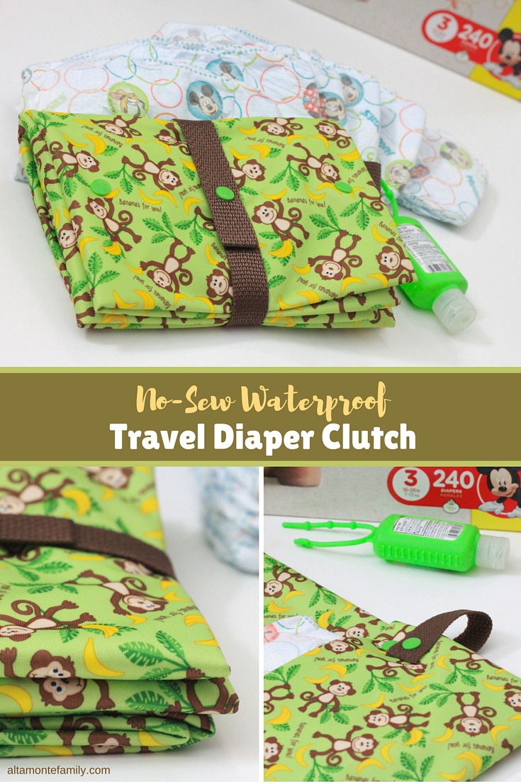 No-Sew Waterproof Travel Diapher Changing Clutch and Playmat