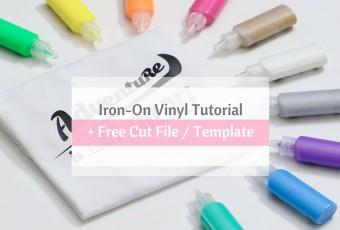 Cricut Explore Air Iron-On Vinyl Tutorial - Free Cut File