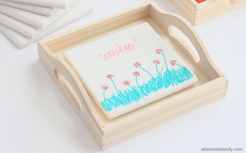 DIY Ceramic Tile Dry Erase Board for KIds - Travel Size