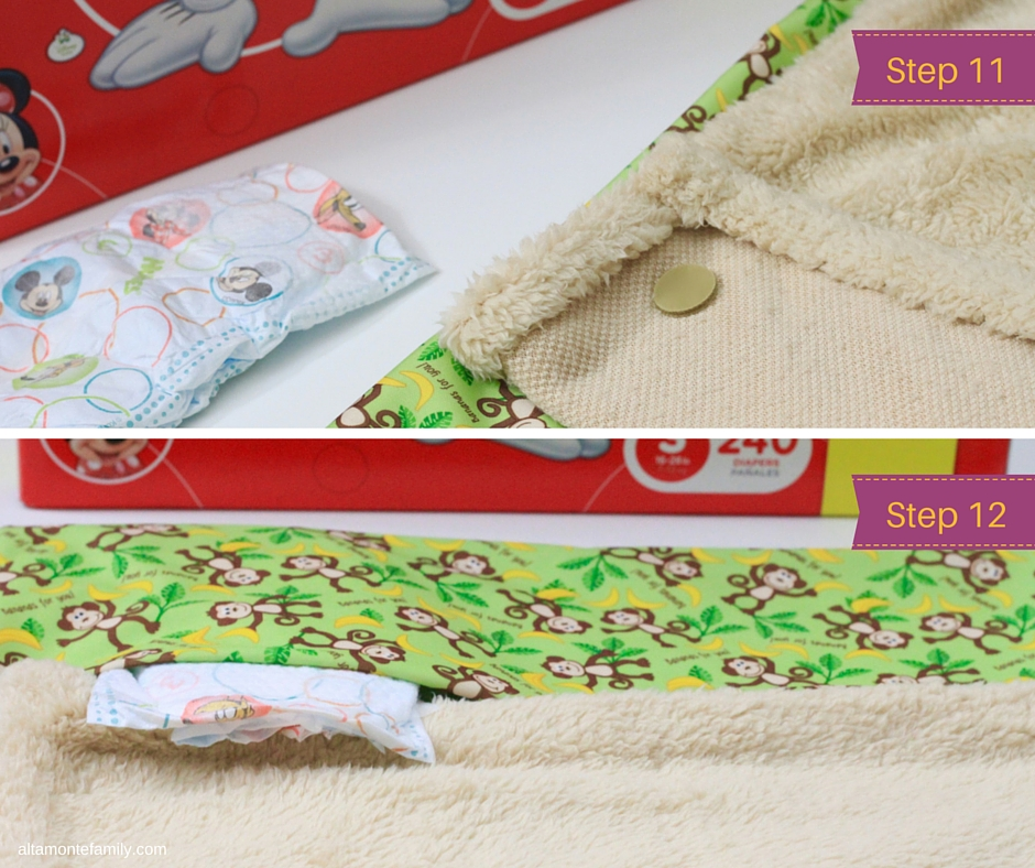 DIY No Sew Travel Clutch Babyville PUL Fabric