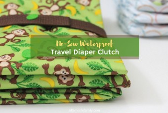 No-Sew Waterproof Travel Diaper Clutch & Play Mat