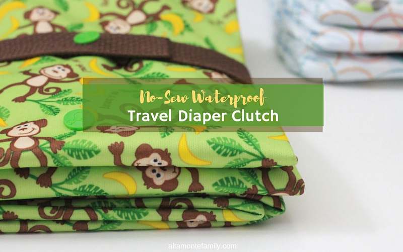 No-Sew Waterproof Diaper Changing Clutch