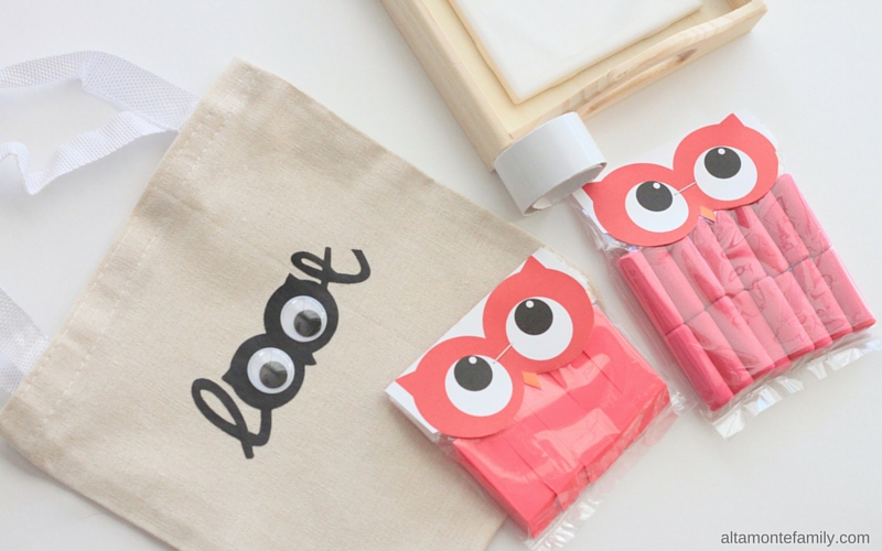 Free Printable Owl Bag Toppers - Pink