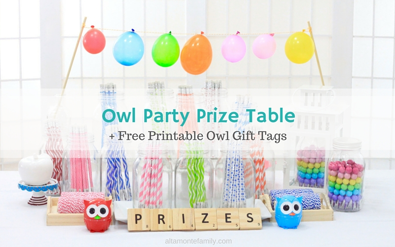 Free Printable Owl Gift Tags and Party Ideas