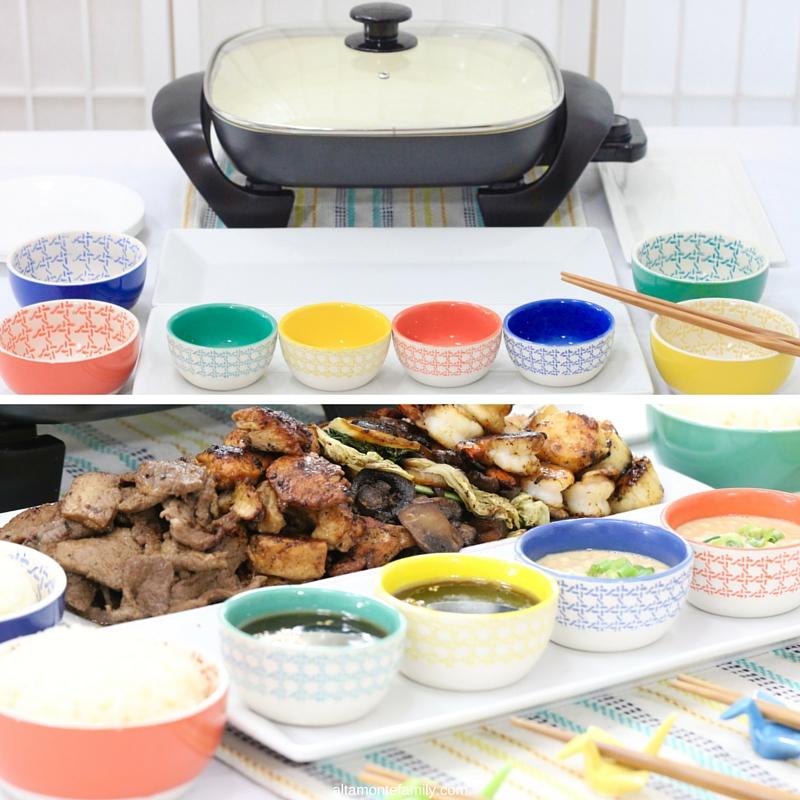 Japanese Dinner Party Ideas Part - 30: Japanese Party Ideas - Teppanyaki Dinner Spread