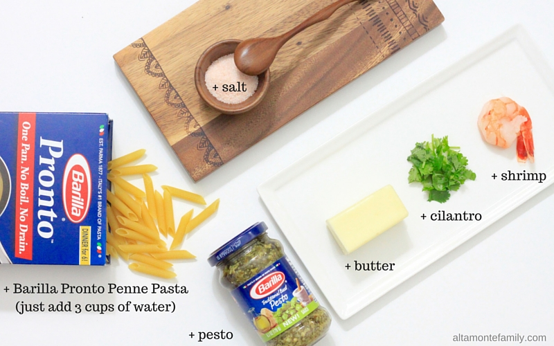One-Pan Shrimp Pesto Penne Pasta