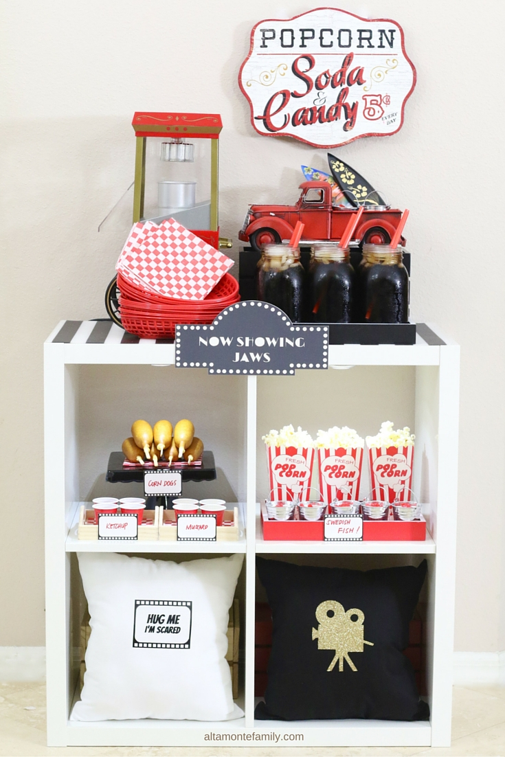 DIY Concession Stand - Family Movie Night