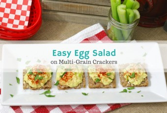 Easy Egg Salad With Celery (On Multi-Grain Crackers)