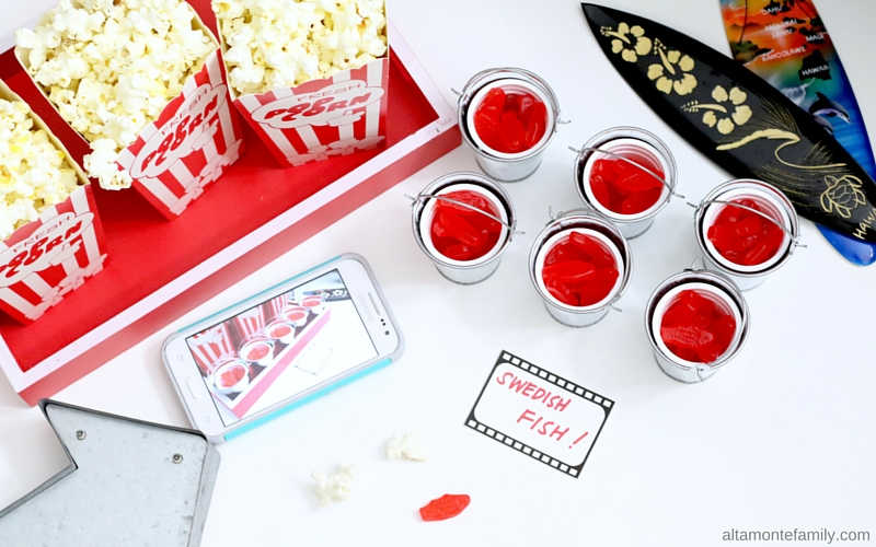 Family Movie Night Snack Ideas - Swedish Fish - Popcorn