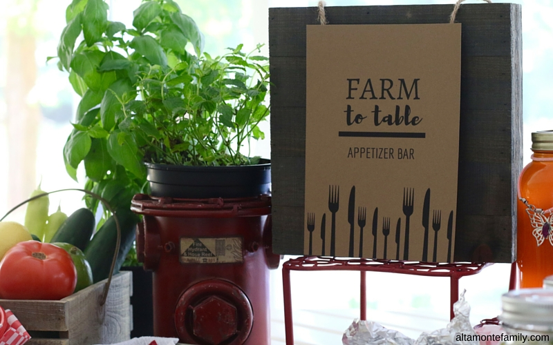 "Farm To Table Party Theme and ""Fresh From Florida"""
