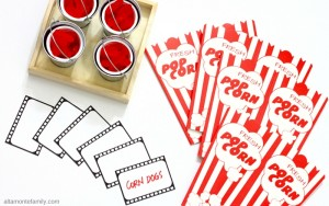 Free Movie Night Printables - Film Strips - Place Cards