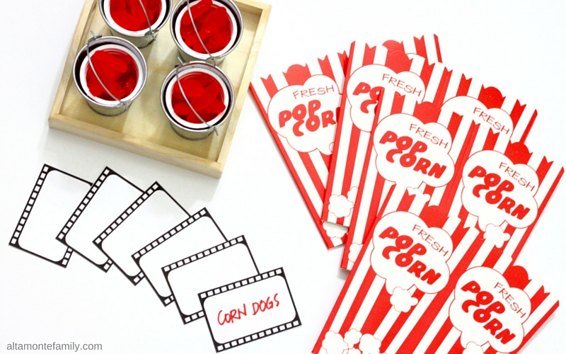 Free Movie Night Printables - Film Strips - Place Cards