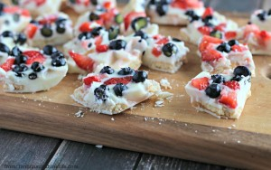 Fresh Berry White Chocolate Shortcake Bark - Hungry Friday Feature - Altamonte Family