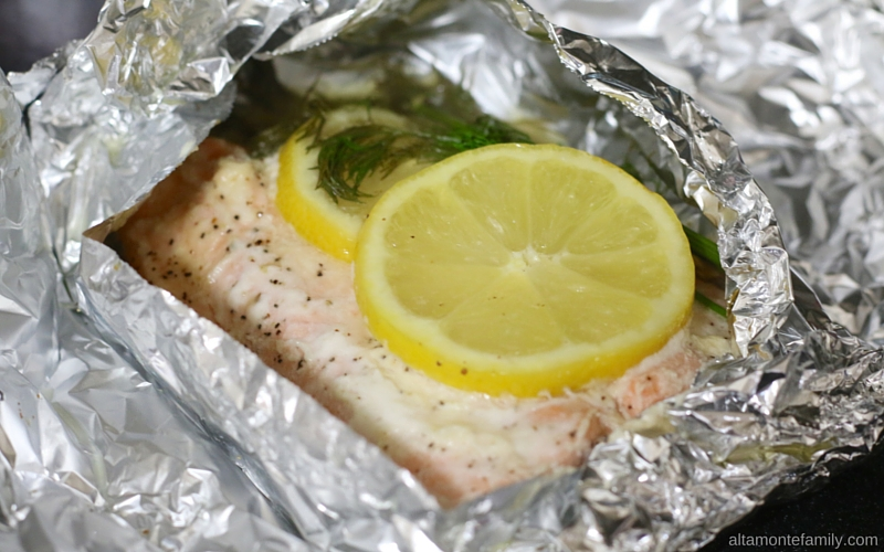 Grilled Honey Salmon - Foil Packet with Mayo