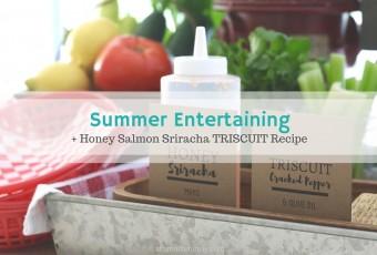 Honey Salmon Sriracha TRISCUIT Recipe - Summer Entertaining