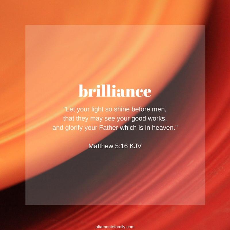 Exuding exuding brilliance