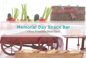 Last-Minute Entertaining: Memorial Day Snack Bar