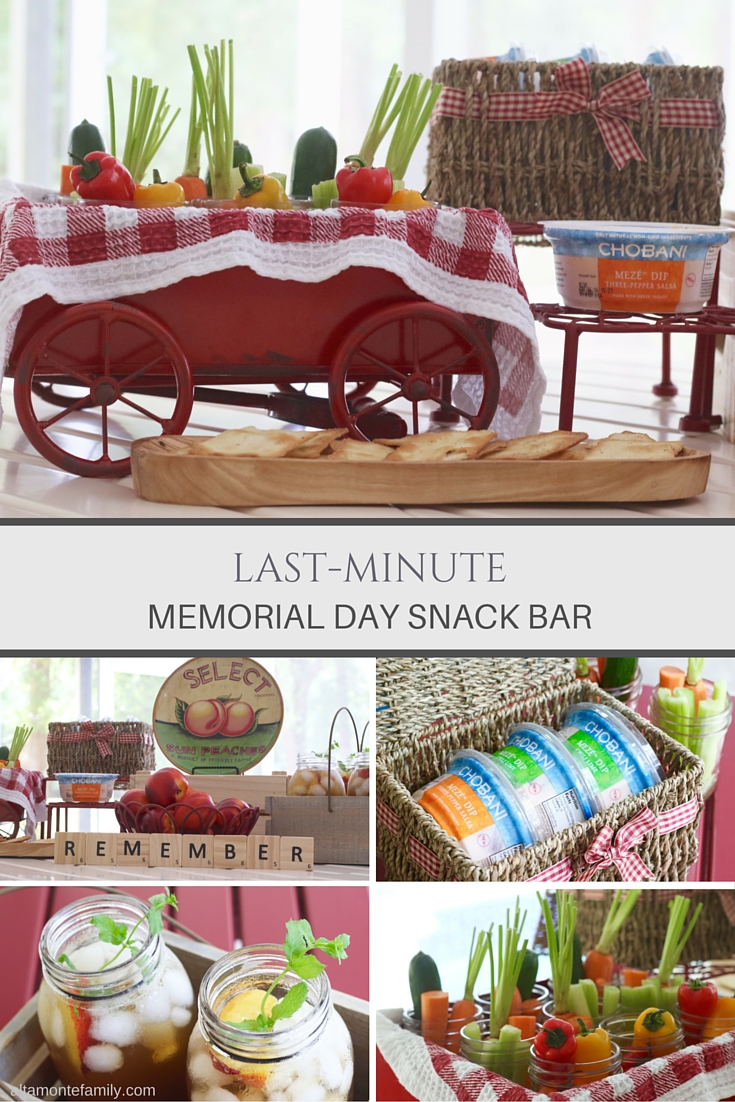 Memorial Day Snack Bar - Last Minute Entertaining Ideas