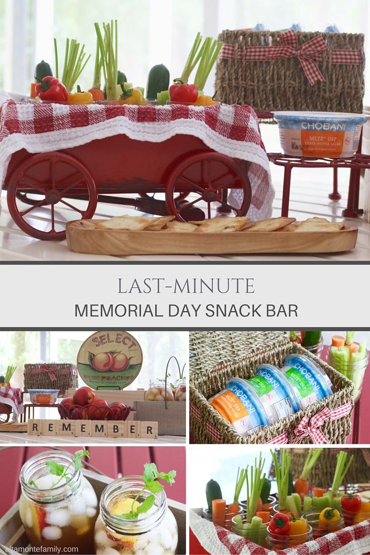 Memorial Day Snack Bar - Last Minute Entertaining Ideas