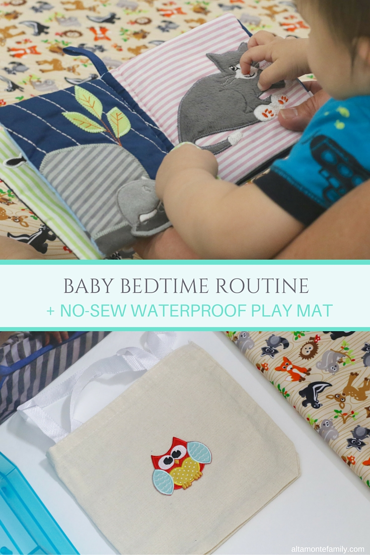 No-Sew Waterproof Play Mat - Owls and Woodland Animals
