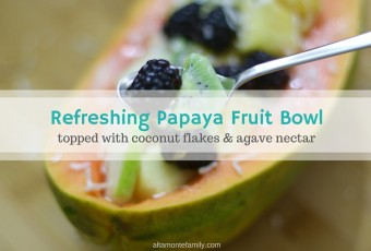 Refreshing Papaya Fruit Bowl
