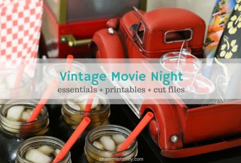 Vintage Movie Night Essentials + Free Printables & Cut Files