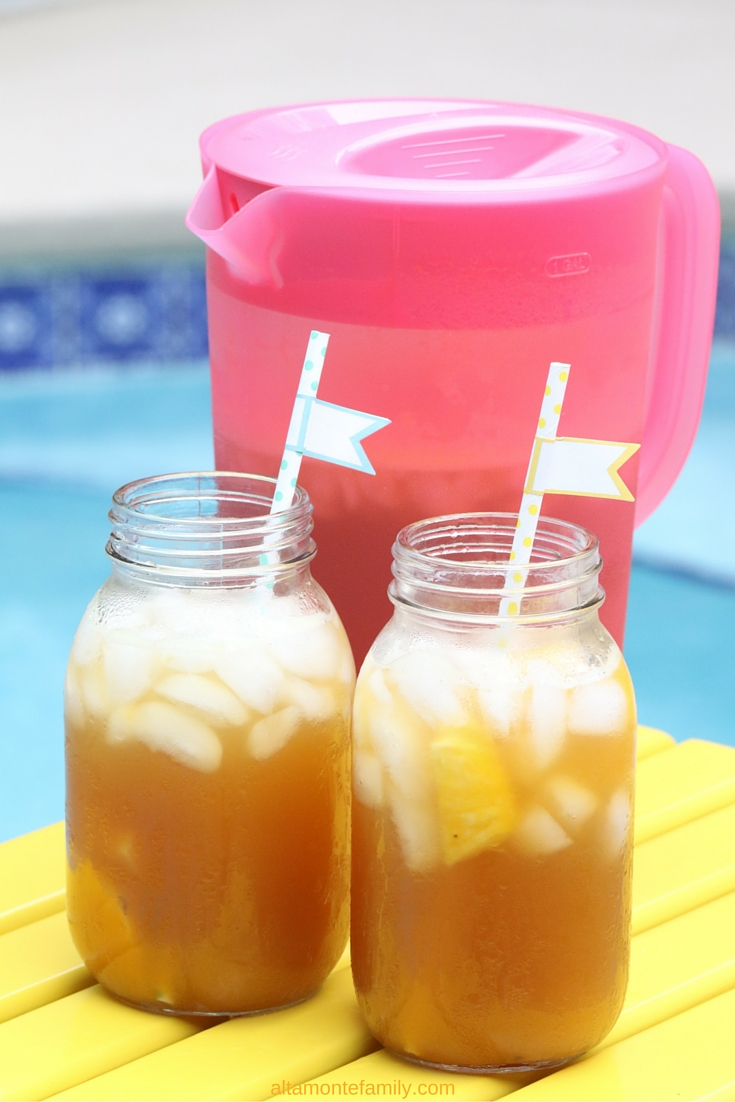 5-Minute Pineapple Peach Iced Tea - Summer Drink Ideas