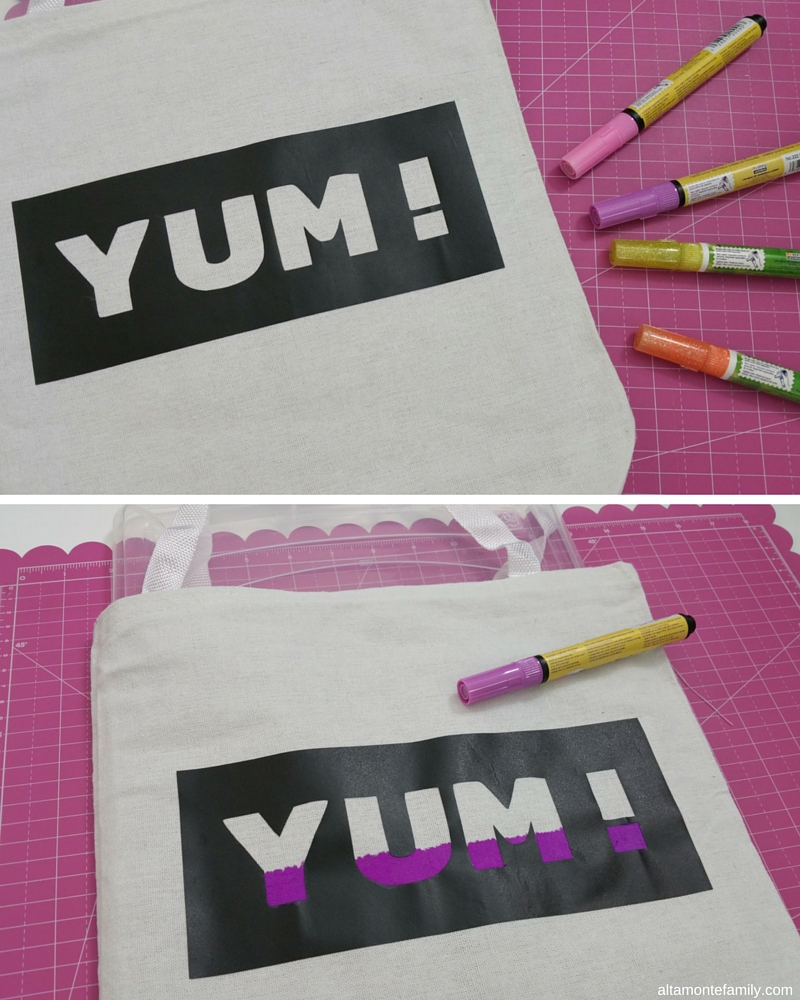 DIY Tote Bag Fabric Paint Project
