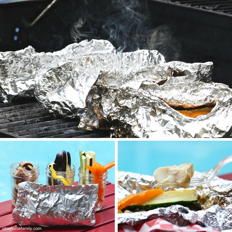 BBQ Grilling Ideas - Seafood Foil Packets